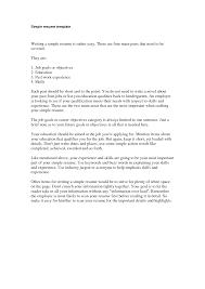 doc 791615 simple simple cv format sample job resume resume example of simple resume template