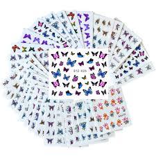 <b>30 Sheets</b> Summer <b>Colorful</b> Silder Designs <b>Nail Art</b> Sticker ...