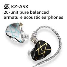 <b>KZ ASX</b> 20BA Units HIFI <b>In-Ear Earphone</b> Heavy Bass DJ Monitor ...