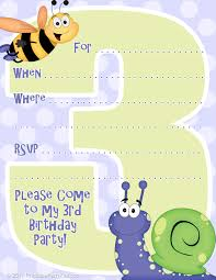 invitations printable party kits able third birthday party invitations