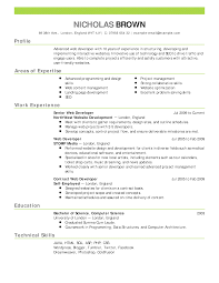 contents of a resumes template contents of a resumes