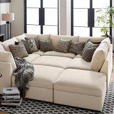 Living Room Incredible Beckham Upholstered Pit Sectional Bassett
