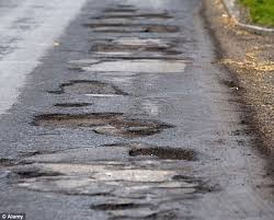 Image result for Potholes picture