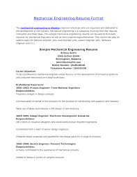 doc resume for mechanical engineer com mechanical engineer sample resumes template