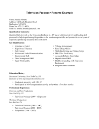 music producer resume
