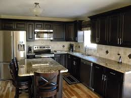 kitchen white cabinets black table
