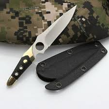Tactical Small <b>Straight Knife</b> Stainless Blade <b>outdoor</b> Camping ...
