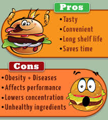 pros and cons to decide if junk food should be allowed in schools