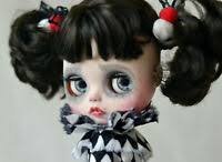 "12"" Takara <b>Blythe</b> factory Nude <b>Doll</b> Long pink&white mix <b>curly hair</b> ..."