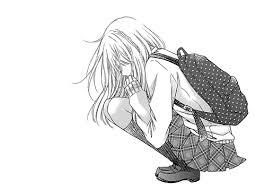 """Résultat de recherche d'images pour """"manga fille triste noir et blanc"""""""