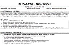 the essentials of a nanny    s resume   care cornerprofessional nanny resume