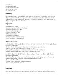 professional church administrative assistant templates to showcase    resume templates  church administrative assistant