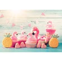 <b>Laeacco</b> Flamingo Backgrounds Dessert Candy Baby Birthday ...