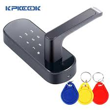 electronic door lock touch screen keypad password cards keys three unlocking way smart digital code for home office