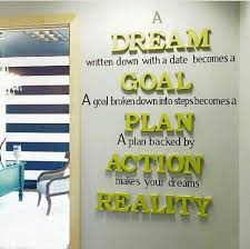 this a great reminderencourager on how to turn your wants and dreams into a reality i think this would be a good poster to hang inside my office to remind business office decorating ideas 1 small business