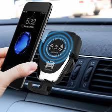 <b>LEEHUR 10w</b> 2 in 1 Car Wireless Phone Charger <b>Fast</b> Charging ...