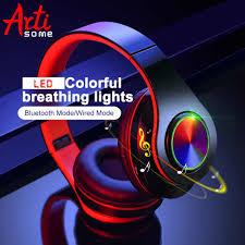 <b>B39</b> LED Colorful Breathing Lights Portable <b>Folding</b> Built in FM ...