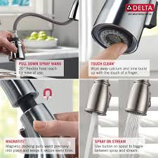 pull kitchen faucet parts delta kitchen faucet water line connections com sincerity single handl