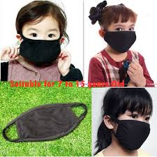 Kids Fashion Fall Winter Unisex Anti-Dust Flu <b>Cotton Black Mouth</b> ...