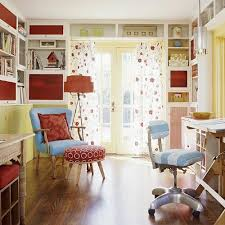 colorful home office design ideas house with a casual design combined with parquet floor office bright colorful home