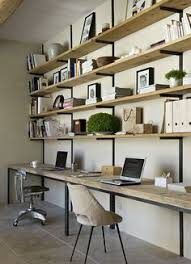 marie laure the desktop is fantastic and the open shelves up the length of awesome open office plan coordinated