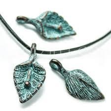 25%OFF <b>Lily Flower Leaf</b> pendant Green Patina Copper Mykonos ...