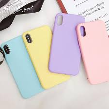 <b>Candy Color</b> Solid <b>Silicone</b> iPhone Case