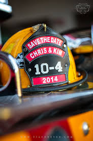 Save the date firefighter style  I think it     s a really cute idea if the Pinterest