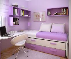 dazzling purple colors wall decor panels with white unique swivel chairs and floating bookshelves and desk amusing double office desk