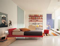 bedroom design idea: bedroom delectable white interior scheme for modern bedroom design idea with simple red wooden bedframe and stainless steel base legs support plus