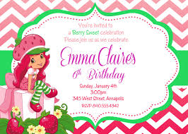 strawberry shortcake invitations com strawberry shortcake invitations for a best invitatios card using surprising invitation templates printable 4