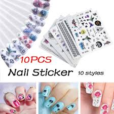 Gaddrt <b>10Pcs</b> DIY <b>Nail</b> Sticker <b>Applique</b> A- Buy Online in Zimbabwe ...