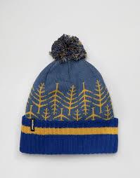 Синяя <b>шапка</b>-бини с деревьями <b>Patagonia</b> Powder <b>Town</b> | ASOS