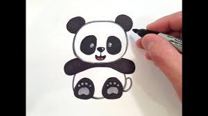 How to Draw a <b>Cute</b> Panda Bear - YouTube