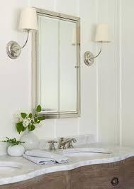 washstand bathroom pine: antiqued gray dual washstand with honed carrera marble rh bathroom vanity circa lighting vendome sconces