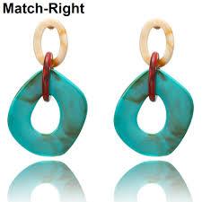 <b>2019</b> Women <b>Acrylic</b> Minimalist Earrings Charm Statement Earring ...