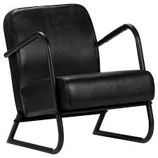 <b>Relax Armchair Black Real</b> Leather | Crazy Sales