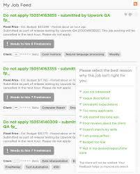 providing feedback on job listings page upwork community