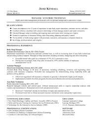 manager auto body technician resume sample qualificational manager auto body technician resume sample qualificational and professional experience