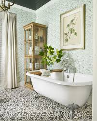 country bathroom colors: mix patterns gallery  makeover takeover bath after