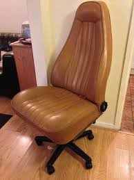 office chair built from an old porsche car seat car seat office chairs
