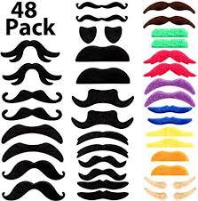WILLBOND 48 Pieces Fake Mustaches, Self Adhesive ... - Amazon.com