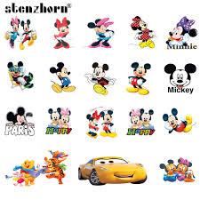 Cartoon Mickey Minnie car <b>bear Patch</b> Iron On <b>Patches For Clothing</b> ...
