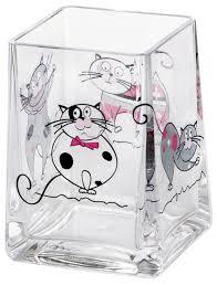 Купить Стакан для зубных щеток <b>Tatkraft Acryl</b> Funny Cats 12950 ...