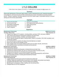 link to an maintenance manager resume maintenance technician resume example