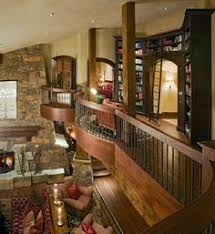 My dream house  Assembly required   photos    Fireplaces  Living    Detailed wood   a great library entrance in a bungaloft