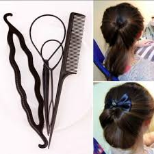 Fashion <b>4pcs</b> Set Plastic Magic Topsy Tail Hair Braid Ponytail ...