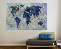 <b>World Map Canvas</b> Print <b>World Map Canvas World Map</b> Large