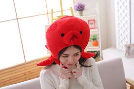 <b>Fibonacci 2019 New</b> Octopus Soft Warm Animal Cap Red Cartoon ...