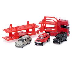 Автовоз с 3 вседорожными машинами <b>Welly</b> 68023A